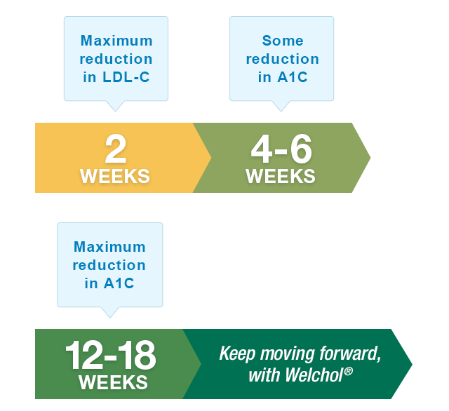 Welchol® Treatment Timeline