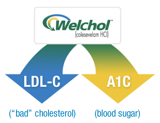 Welchol® (colesevelam HCI) lowering LDL-C and A1C