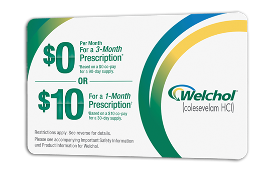Welchol® coupon for patient savings